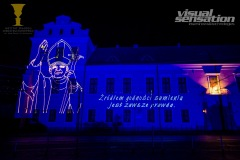 Krakow Animacja laserowa Jan Paweł II 2020